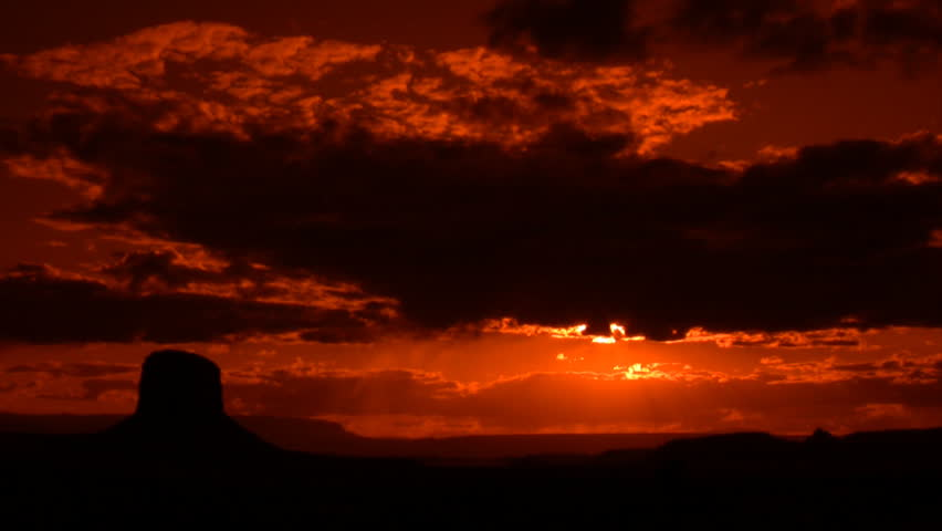 Monument Valley 1 Time Lapse Sunset x45