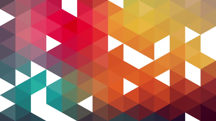 Triangles Hipster Animation, Retro Pattern Of Geometric