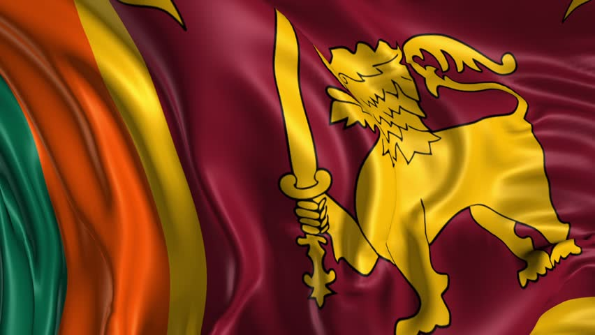 Flag Of Sri Lanka Beautiful 3d Animation In Loop Mode Stock Footage Video 5459597