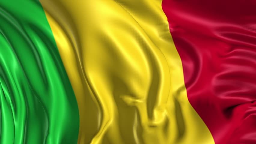 Flag Of Mali Beautiful D Animation Of The Mali Flag In Loop Mode - Mali flags