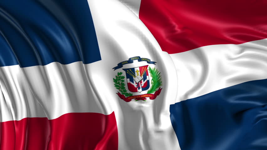 Flag of Dominican Republic Beautiful   3d animation of Dominican Republic in loop mode