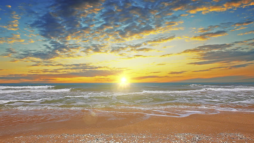 marine sunset. 4K. FULL HD, 4096x2304. #5465600