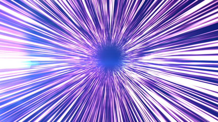 A beautifully animated video background zooming through a light tunnel.