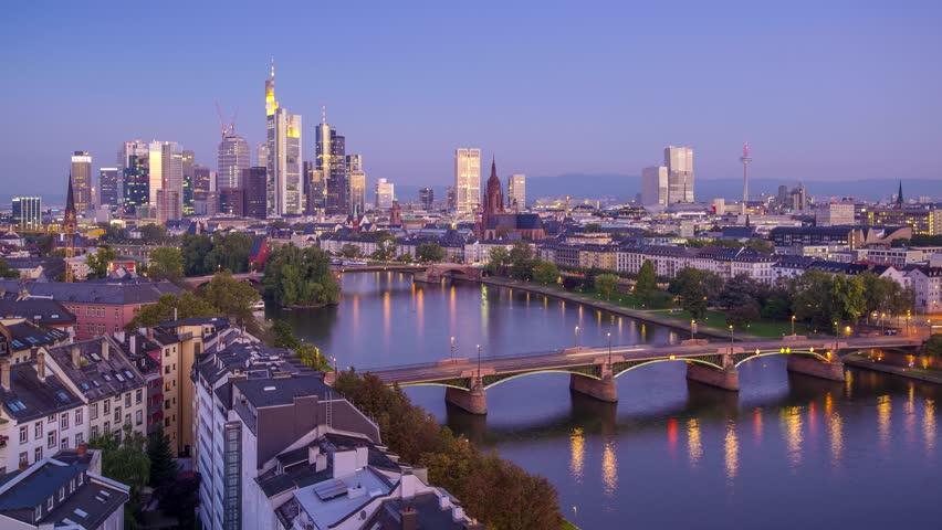 Frankfurt, Germany on the Main River.
