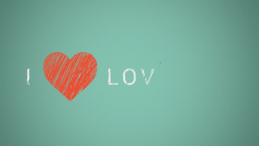 I love love you. traditional animation | Shutterstock HD Video #5528657