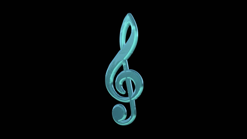 Treble Clef Music Symbol Statue Stock Footage Video 100 Royalty
