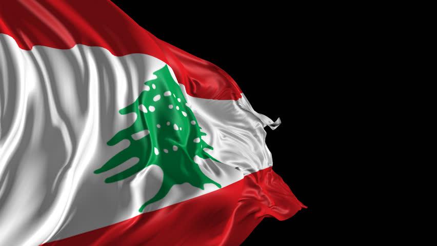 Lebanon Flag Stock Footage Video | Shutterstock