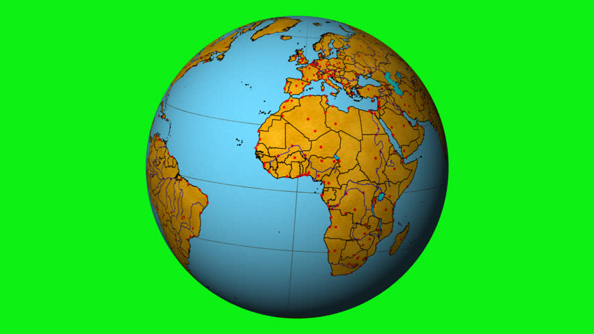 Vintage country map globe spinning | Shutterstock HD Video #5576216