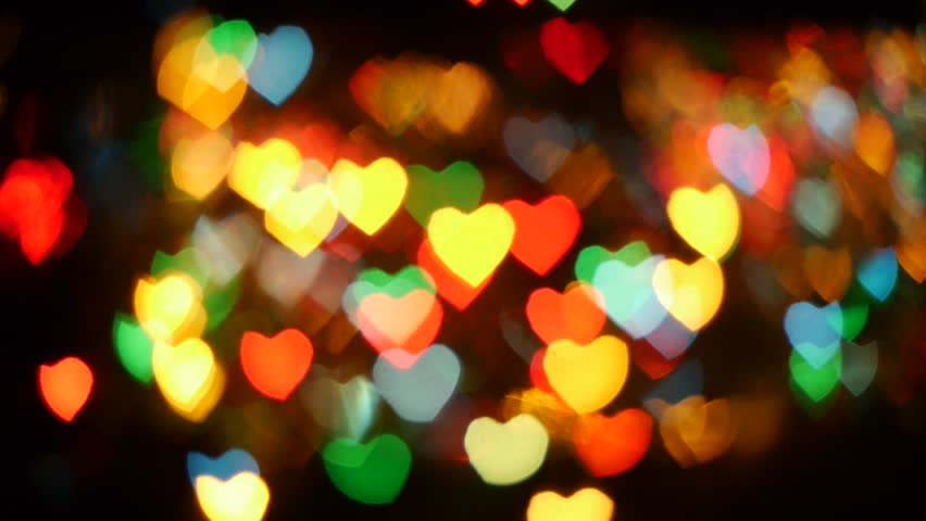Bokeh Heart Shape Of Light Background Stock Footage Video: Hearts Bokeh Stock Footage Video 1467091