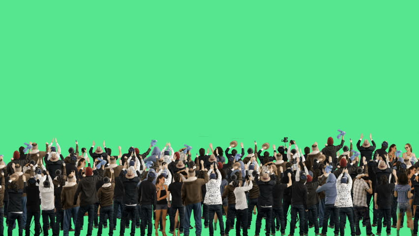 Crowd of people. Green screen. These people are real, shot on green screen.  | Shutterstock HD Video #5587403