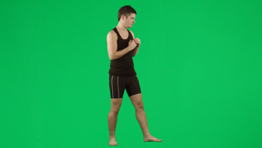 Young Man Boxing Against Green Stock Footage Video (100% Royalty-free)  559837   Shutterstock