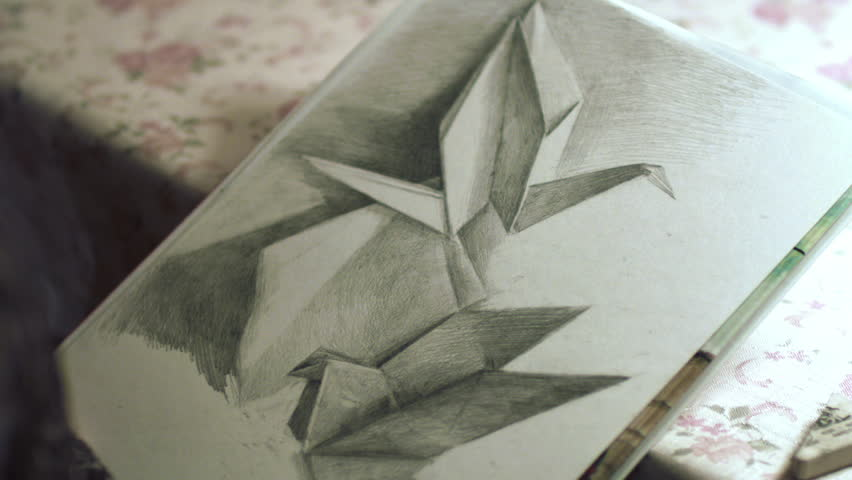 Time Lapse Of Drawing Origami Crane And Dove Hd High Definition