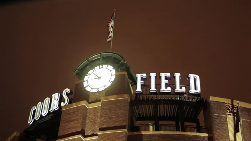 Denver, Colorado - May, 2012 - Close up of Coors Field Stadium in Denver, Colorado.
