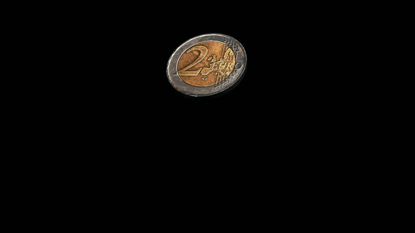 Realistic Coin Flip (2 Euro), HD, with Alpha Channel