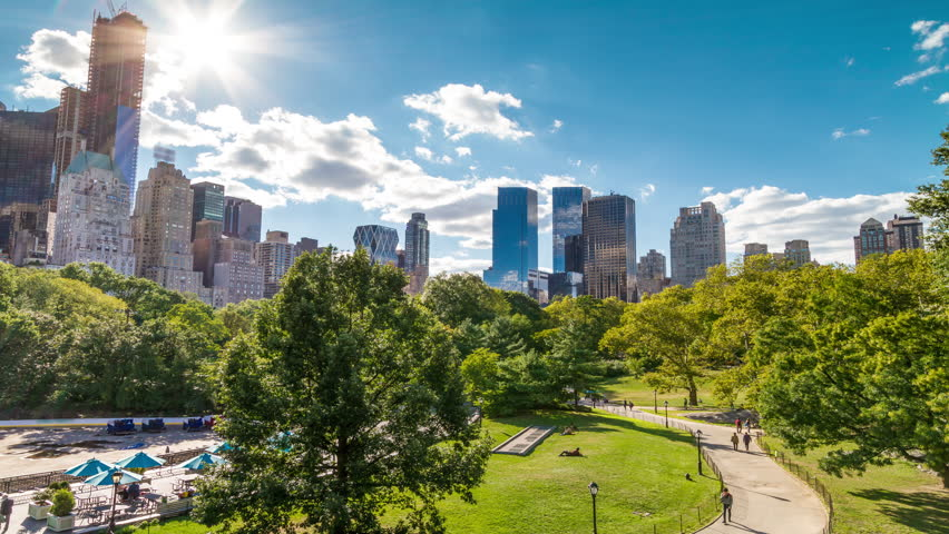 Central Park in New York City - Timelapse of NYC - Green Nature - Public Park - Summer Time-Lapse - Beautiful Colorful Sunny Day Time Lapse | Shutterstock HD Video #5726102