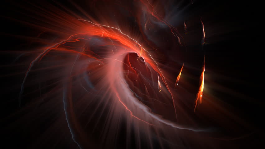 Cosmic magma in a gravitational whirlpool - abstract, flame fractal based, seamlessly looping background render.  | Shutterstock HD Video #57427