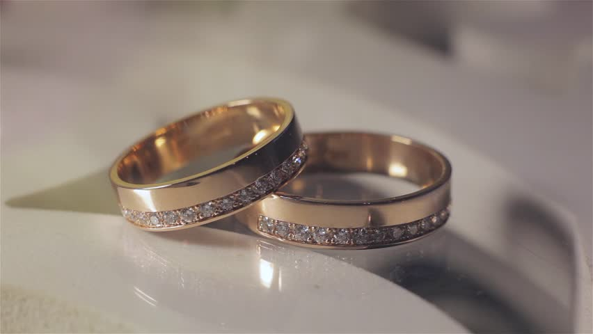 Two Wedding Rings Stock Footage Video 100 Royalty Free 5750897