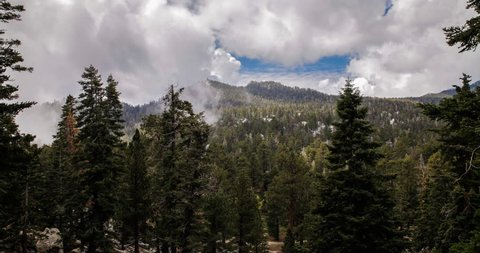 USA - 4K Time Lapse Of Clouds Passing Over The San Jacinto Mountains In Palm Springs, 2013