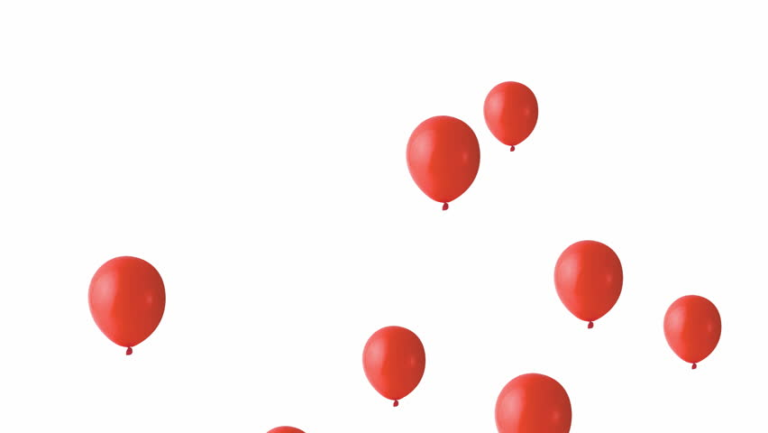 Party Balloons Rising Up Stock Footage Video 100 Royalty Free
