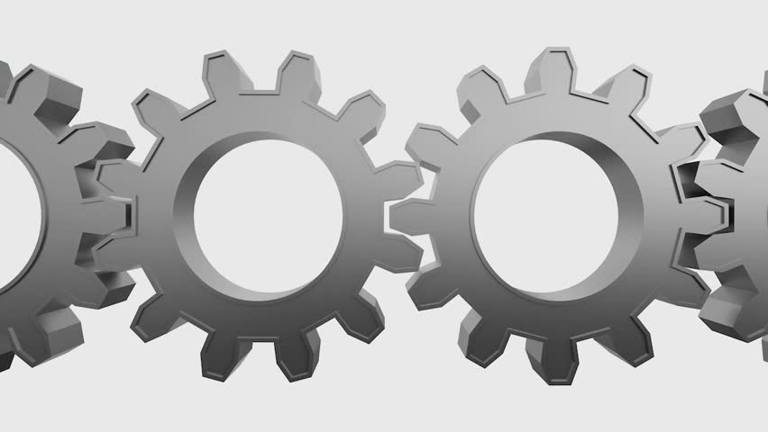 Set Of Gear Cogs Working Together A Symbol Of Royalty Free Video