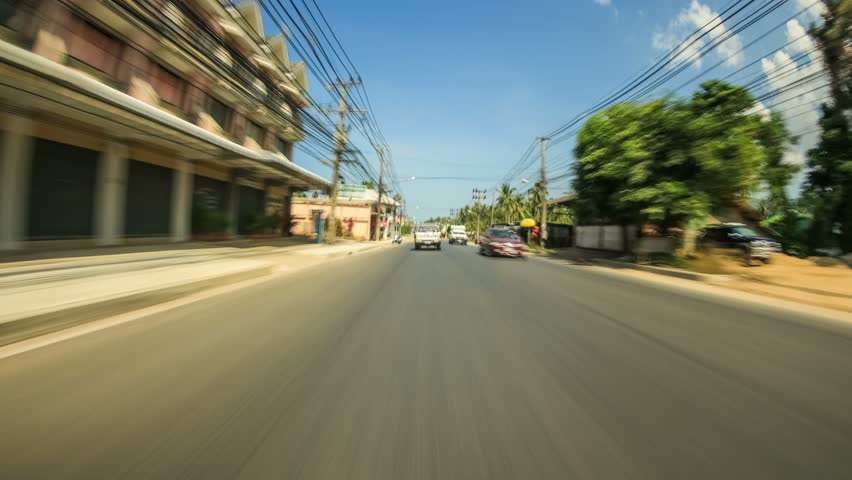 Driving time lapse on Ko Samui island, Thailand on February 1st 2014. | Shutterstock HD Video #5778587