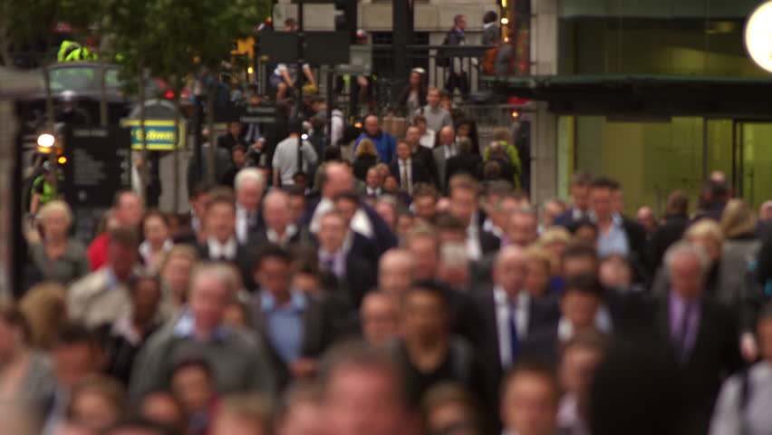 Business people on a busy street in London | Shutterstock HD Video #5784557