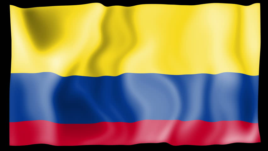 A Waving Colombia Flag Stock Footage Video 100 Royalty Free