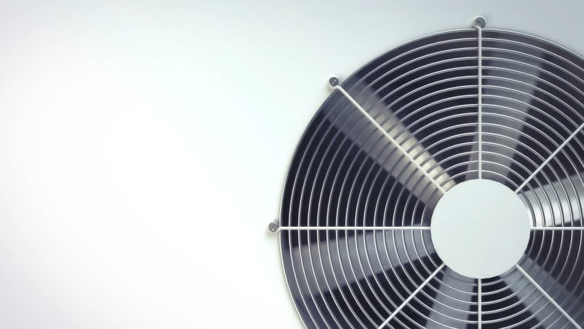 air conditioning fan ventilation animation. temple with white space for text