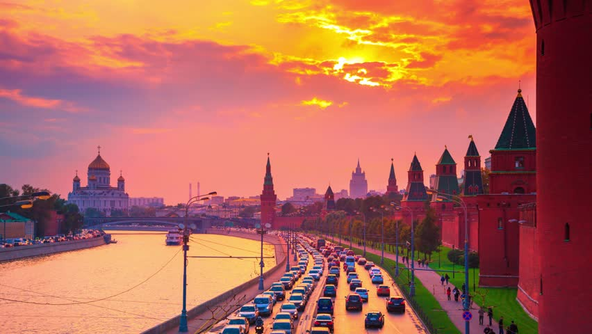 Moscow city on sunset russia timelapse stock footage video 2977528 shutterstock - 4k wallpaper russia ...