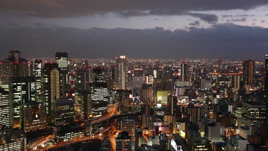 Time lapse video of finance and business center of maslakistanbul twilight cityscape at umeda district osaka japan hd stock video clip altavistaventures Images