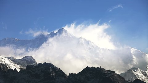 Timelapse, Kanchenjunga is the third highest mountain in the world. It rises with an elevation of 8,586 m : From Dzongri View Point, HD 1080P