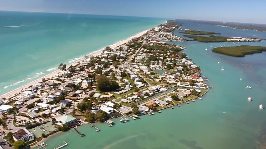 Englewood Florida 2014 Aerial Beach. Stock Footage Video ...