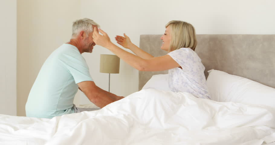 Romantic Husband Bringing His Wife Breakfast In Bed At Home In Bedroom  Stock Footage Video 5936297   Shutterstock. Romantic Husband Bringing His Wife Breakfast In Bed At Home In