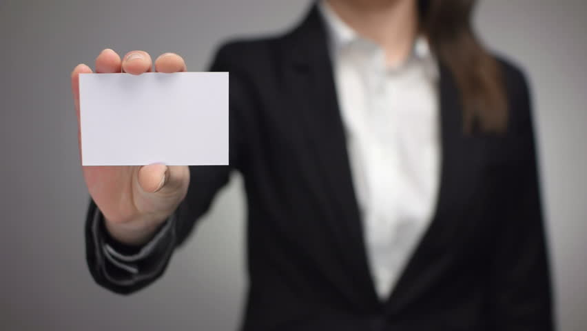 Businesswoman showing a business card stock footage video 5938337 businesswoman showing a business card stock footage video 5938337 shutterstock reheart Choice Image