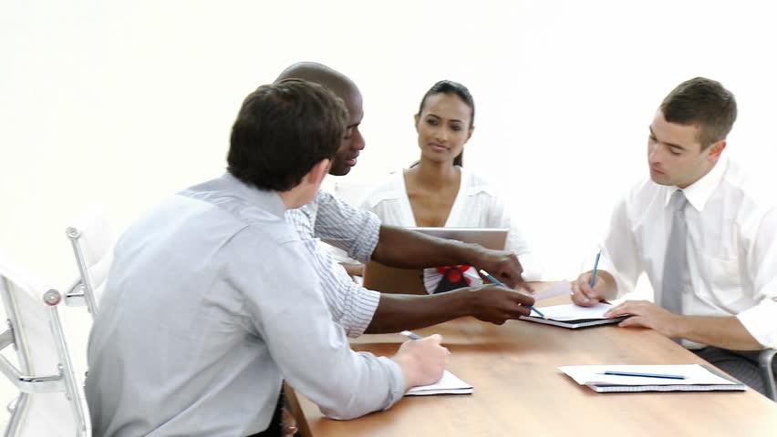 Dolly Shot of a business meeting in progress | Shutterstock HD Video #594307