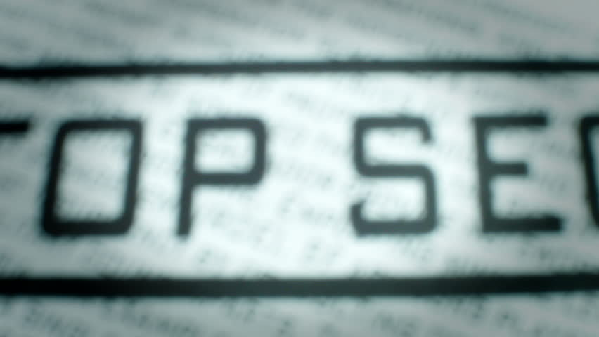 Closeup of Top Secret Stamp.