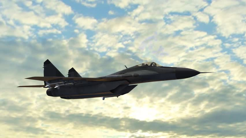 Mig 29 Fighter Jet in fly