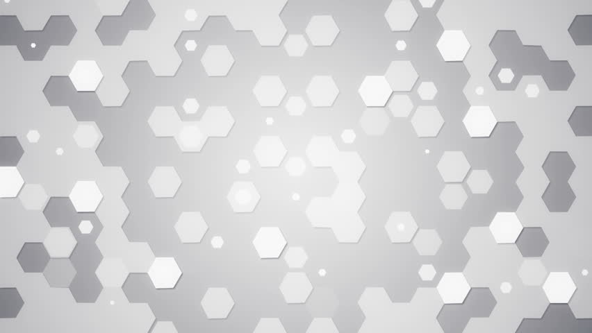 Stock Video Of White Hexagons Loopable Background
