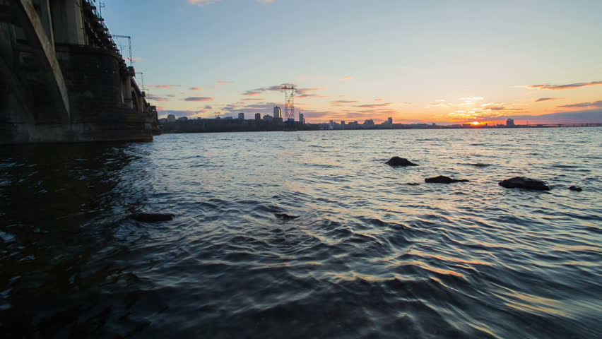 Dnepropetrovsk Panorama at Sunset  Raw Stock Footage Video (100%  Royalty-free) 6007037 | Shutterstock