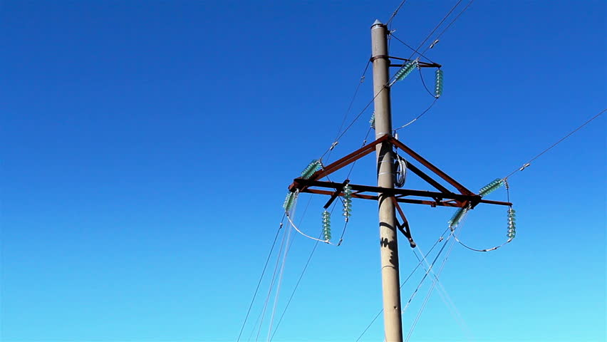 The Triangular Shape Metal On An Electricity Posts Where Wires Are ...