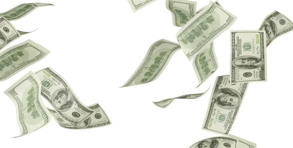 dollar bills falling on - photo #17