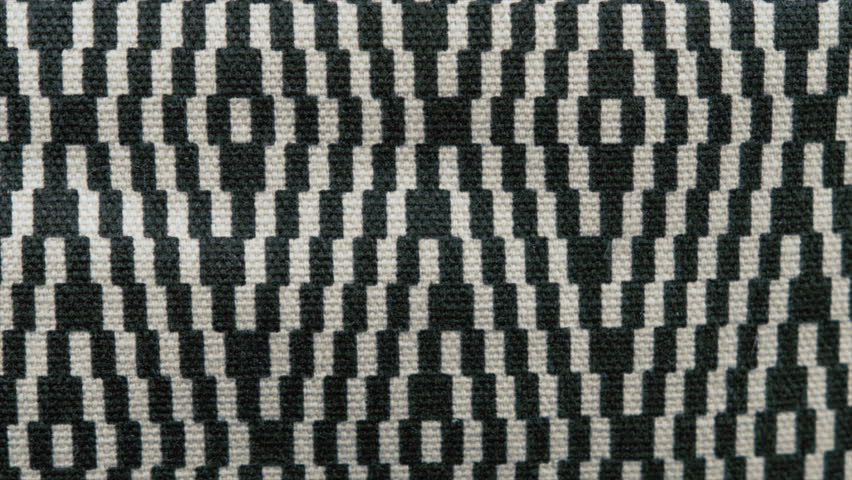 Chequered black and white fabric texture UHD stock footage background. A close up dolly shot of a chequered piece of fabric filmed on the Arri Alexa in Ultra High Definition 3840 x 2160.