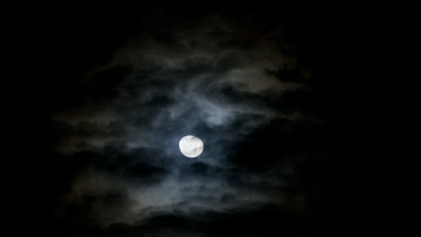 Wide Shot Time lapse Moon in sky at night | Shutterstock HD Video #6083057