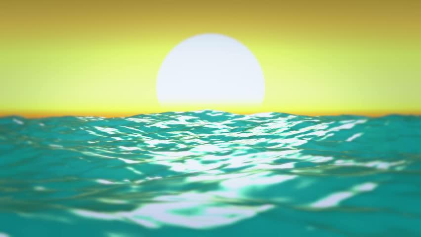 Caribbean sea bouncing waves sunrise Caribbean sea bouncing waves sunrise -  Full HD