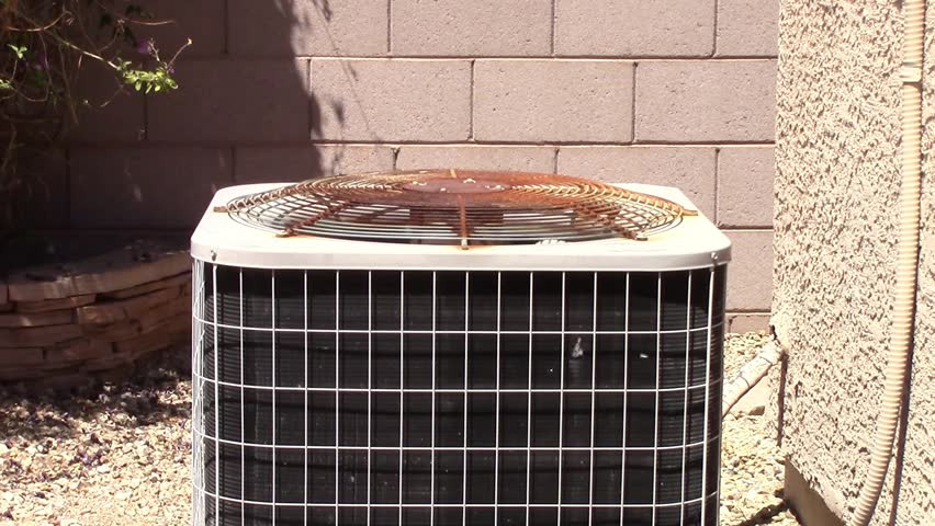 A Rusty Air Conditioner Condenser An Old In Need Of Repair