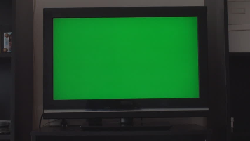 Turning Down The Volume On A HDTV With A Green Screen, Chroma, Key, Front Shot | Shutterstock HD Video #6146057