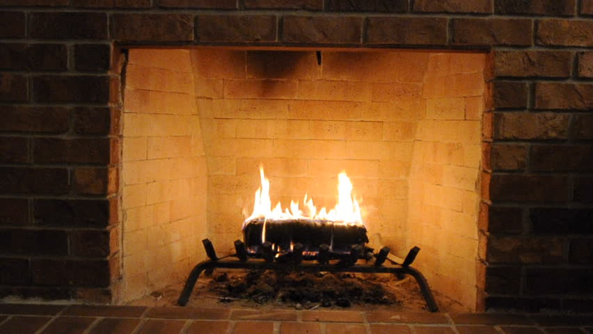 Brick Fireplace with Log Burning