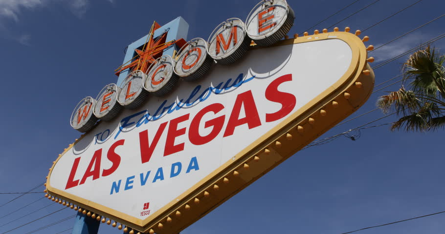 By Day Welcome to Fabulous Las Vegas Sign Strip USA Busy Sin City Rich Players ( Ultra High Definition, Ultra HD, UHD, 4K, 2160P, 4096x2160 ) | Shutterstock HD Video #6163484
