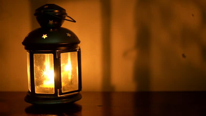 Ramadan Lamp A Hand Gets Stock Footage Video 100