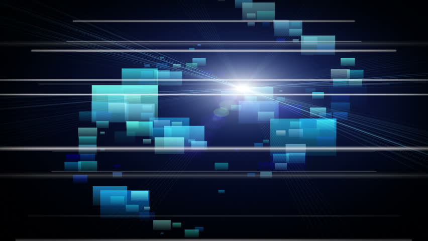 fantastic video animation with stripe object and futuristic background in motion, loop HD 1080p